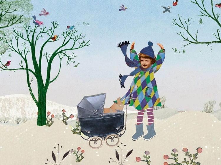 Geboortekaartje aankondiging announcement birth kaartje birthcard card baby babycard Origineel uniek feest vintage retro poesie nostalgie gezellig vrolijk kleurrijk stoer schattig nostalgisch fantasie creatief art kunst illustratie illustration gouden boekje kijkplaat zoekprent zoekplaat zoekboek kinderboek festival reizen gepersonaliseerd Bloemen dieren broer zus kindje meisje jongen genderneutraal gender neutraal cultuur huidskleur zwart donker Turks Chinees halfbloed Marokkaans Surinaams Antilliaans grote broer grote zus kinderwagen wagentje wiegje stroller Pram wandelwagen bos natuur vrolijk grappig fantasie winter sneeuw tuin buiten