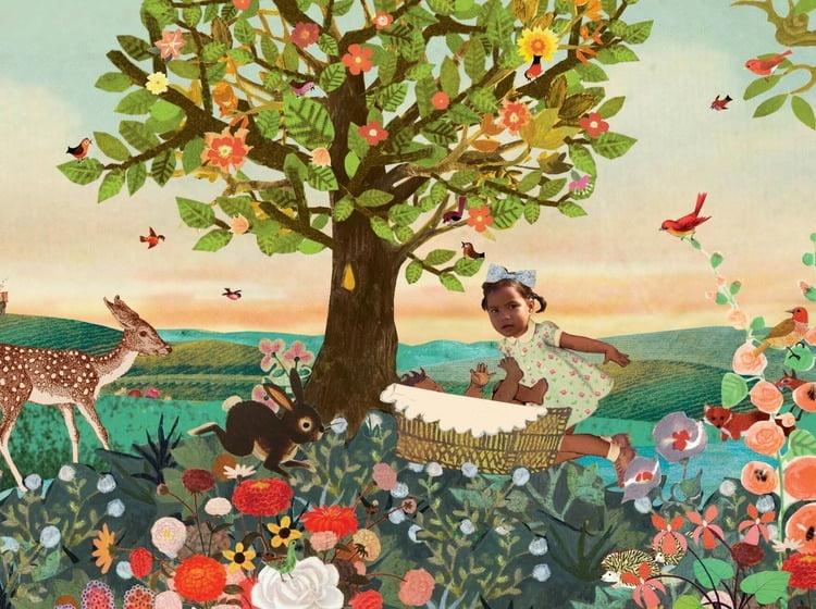 Geboortekaartje aankondiging announcement birth kaartje birthcard card baby babycard Origineel uniek feest vintage retro poesie nostalgie gezellig vrolijk kleurrijk stoer schattig nostalgisch fantasie creatief art kunst illustratie illustration gouden boekje kijkplaat zoekprent zoekplaat zoekboek kinderboek festival reizen gepersonaliseerd Bloemen dieren broer zus kindje meisje jongen genderneutraal gender neutraal cultuur huidskleur zwart donker Turks Chinees halfbloed Marokkaans Surinaams Antilliaans Landschap bos bosdieren konijn das hert Bambi hertjes vos vosje uil haas romantisch poesie nazomer gezellig warm grote zus grote broer