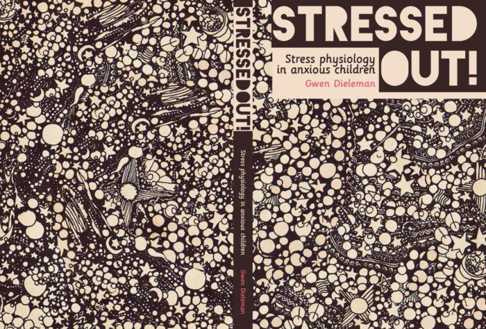proefschrift cover stress kinderen angst angststoornis Gwen Dieleman minder- en jeugdpsychiatrie psychologie studiecover ontwerp omslag