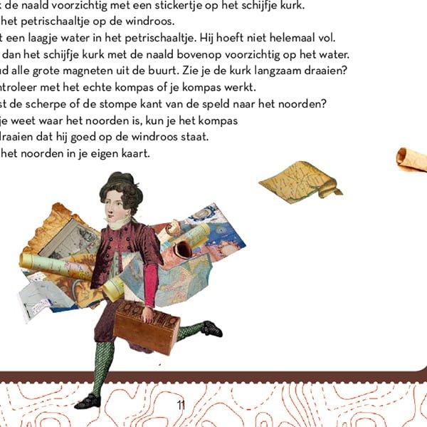 illustratie professioneel collage grootzus atlas, landkaart, globe, Blaauw, boerhaave, 18de eeuw, animatie, educatie, boerhaave, museum, film, geschiedenis, ontstaan, video, educatieve animatie, animatie in de klas