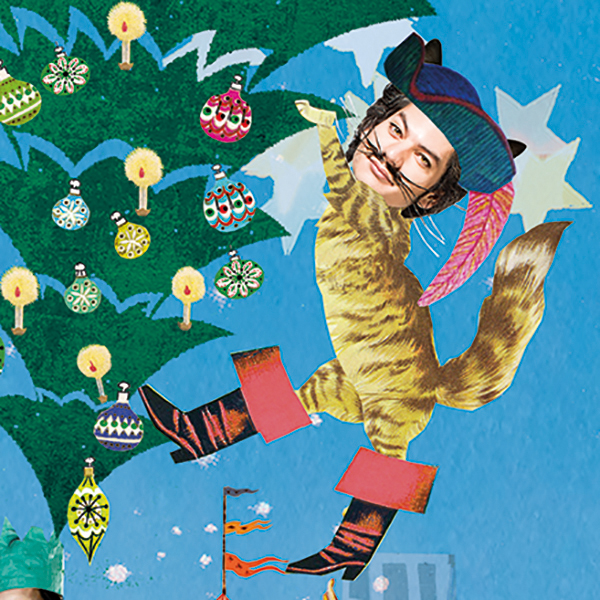 uitagenda rotterdam cover illustratie editorial professioneel collage rotterdam festivals kerstvoortelling ROtheater theater rotterdam muziek rotoen festival bird Nighttown kerstvakantie de gelaarsde poes