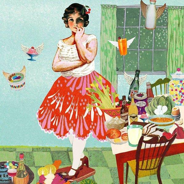consument illustratie editorial consumentenbond collage stad wonen types mensen bewoners goede illustratie professioneel fruit gezond eten vitamines dieet fabels en feiten afvallen dunner worden te dik