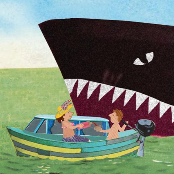 varen doe je samen illustratie ansichtkaart wenskaart zee meer recreatie pleziervaart beroepsvaart rivier marifoon regels waterregels verkeersregels vaarregels dode hoek collage professioneel illustreren grootzus