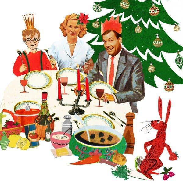 holland herald KLM Air France vliegtuig cabine magazine comedy kerstdiner kerst familie hazenpeper diner kerstboom