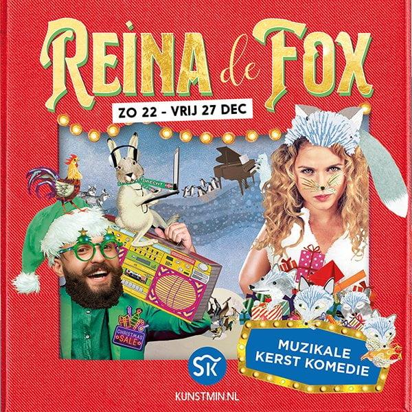 kerstvoorstelling Reina vos fox kunstmin theater toneelstuk Dordrecht poster flyer beeld reclame marketing collage illustratie grootzus professioneel hipster kindervoorstelling jeugdvoorstelling