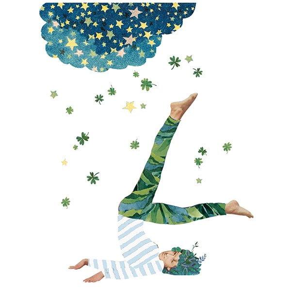 yoga magazine houding natuur illustratie namaste Sanoma tijdschrift me-time collage universe editorial professioneel