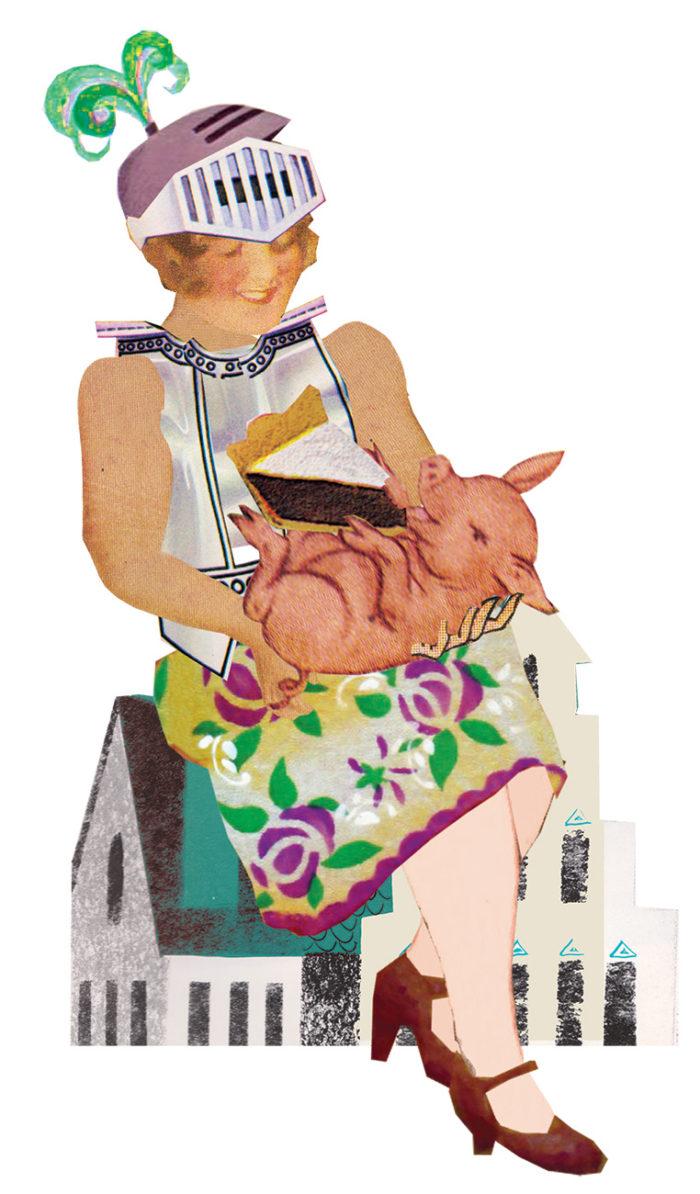 big is beautiful dik mooi volslank dieet mollig varkentje eet wat je wil illustratie weerbaarheid pesten nare opmerking gewicht omvang maatje meer collage grootzus professioneel editorial magazine