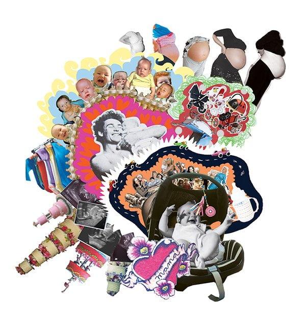 Viva viva mama tijdschrift magazine Sanoma grootzus illustratie collage editorial professioneel meidenblad vrouwenblad huwelijk man liefde echtgenoot baby zwanger interesses