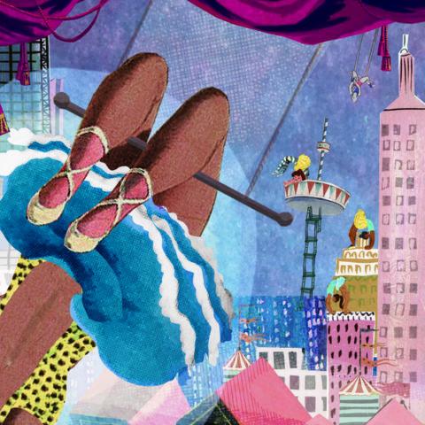 Poster kijkplaat kinderkamer babykamer prent decoratie muurversiering wanddecoratie kunst Origineel uniek feest vintage retro poesie nostalgie gezellig vrolijk kleurrijk stoer schattig nostalgisch fantasie creatief art kunst illustratie illustration gouden boekje kijkplaat zoekprent zoekplaat zoekboek kinderboek festival reizen gepersonaliseerd Bloemen dieren broer zus kindje meisje jongen genderneutraal gender neutraal cultuur huidskleur zwart donker Turks Chinees Marokkaans Surinaams Antilliaans ansicht postkaart postcard postcrossing post stationary stationery verjaardag verjaarskaart gefeliciteerd rotterdam circusstad circusstadfestival festival uitagenda stad trapeze zwarte vrouw acrobaat pantervel Euromast kubuswoningen architectuur rotterdam wenskaart