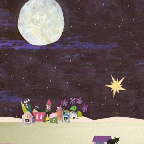 kerst kerstkaart wens kerstwens kaartje stuureenkaart joyeux novelle Merry Christmas kamelen drie koningen stal Jezus chiristus ster stal vintage retro romantisch nostalgisch vrolijk sfeervol kleurrijk wenskaart dubbele wenskaart inclusief enveloppe noordpool ijsbeer ijs berg sneeuw familie gezin winter tafereel bos woud kerstboom bosdieren dennenboom kerststal maria jozef Jezus christus ster maan Nazareth ezel os kerststal stalletje